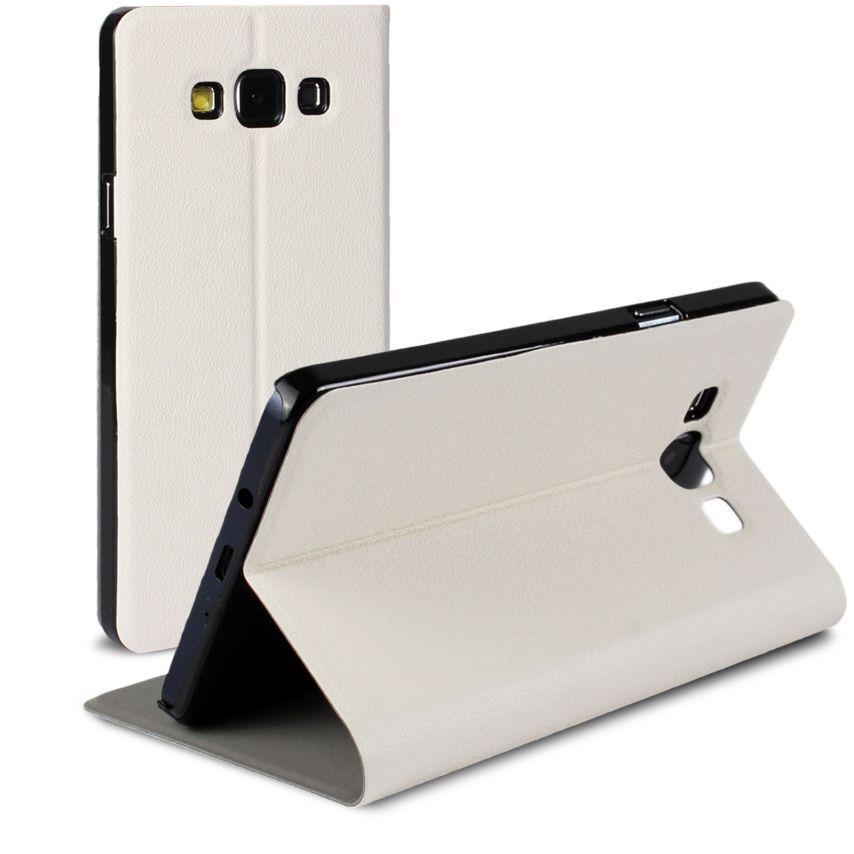 Vue Principale de Etui Galaxy A7 Slim Folio Smart Magnet Blanc