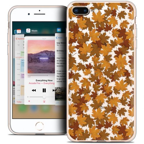 "Coque Crystal Gel Apple iPhone 8 Plus (5.5"") Extra Fine Autumn 16 - Feuilles"
