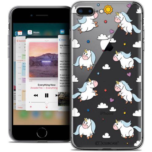 "Coque Crystal Gel Apple iPhone 8 Plus (5.5"") Extra Fine Fantasia - Licorne In the Sky"