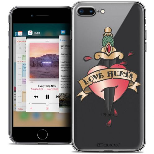 "Coque Crystal Gel Apple iPhone 8 Plus (5.5"") Extra Fine Tatoo Lover - Love Hurts"