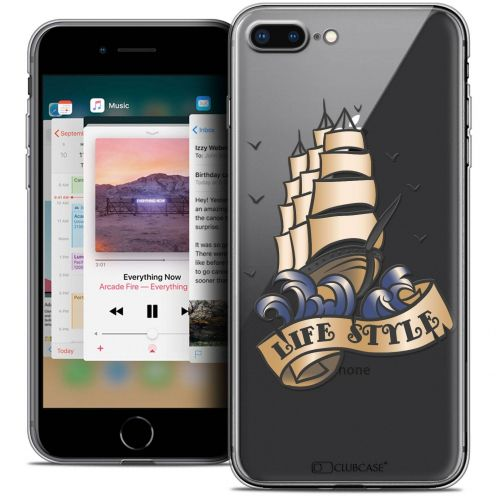 "Coque Crystal Gel Apple iPhone 8 Plus (5.5"") Extra Fine Tatoo Lover - Life Style"