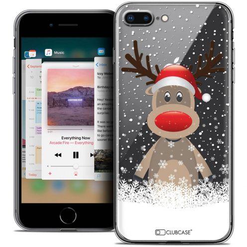 "Coque Crystal Gel Apple iPhone 8 Plus (5.5"") Extra Fine Noël 2017 - Cerf au Bonnet"