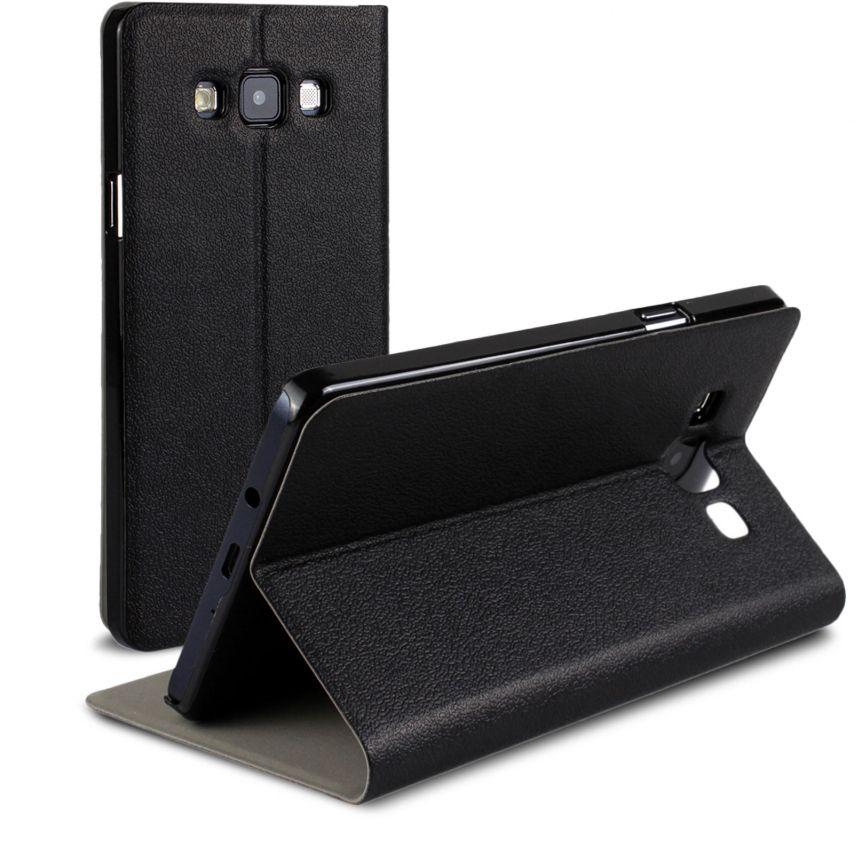 Vue Principale de Etui Galaxy A7 Slim Folio Smart Magnet Noir