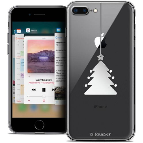 """Coque Crystal Gel Apple iPhone 8 Plus (5.5"""") Extra Fine Noël 2017 - Petit Arbre"""