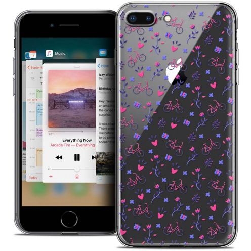 """Coque Crystal Gel Apple iPhone 8 Plus (5.5"""") Extra Fine Love - Bicycle"""