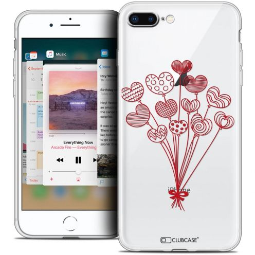 "Coque Crystal Gel Apple iPhone 8 Plus (5.5"") Extra Fine Love - Ballons d'amour"