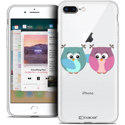 """Coque Crystal Gel Apple iPhone 8 Plus (5.5"""") Extra Fine Love - Hibous à deux"""