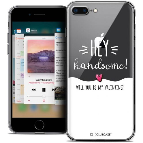 "Coque Crystal Gel Apple iPhone 8 Plus (5.5"") Extra Fine Love - Hey Handsome !"
