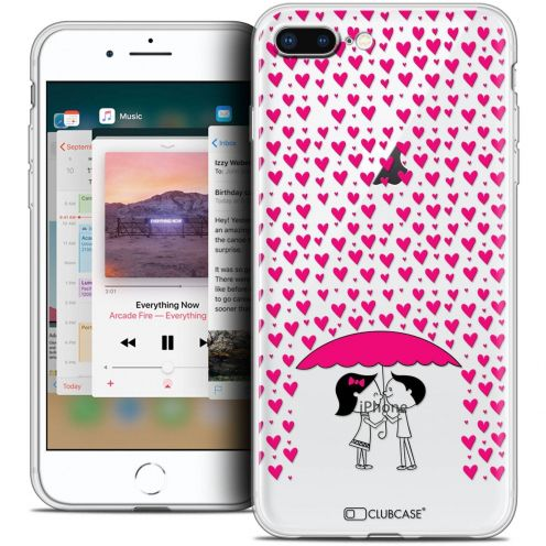 "Coque Crystal Gel Apple iPhone 8 Plus (5.5"") Extra Fine Love - Pluie d'Amour"
