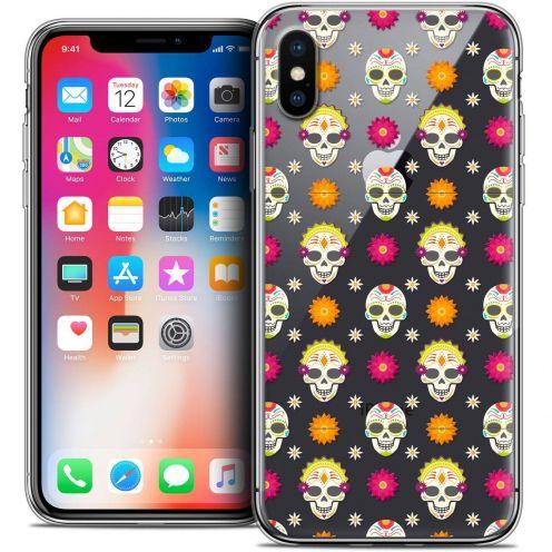 "Coque Crystal Gel Apple iPhone Xs / X (5.8"") Extra Fine Halloween - Skull Halloween"