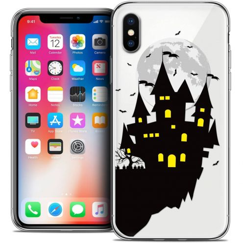 "Coque Crystal Gel Apple iPhone Xs / X (5.8"") Extra Fine Halloween - Castle Dream"