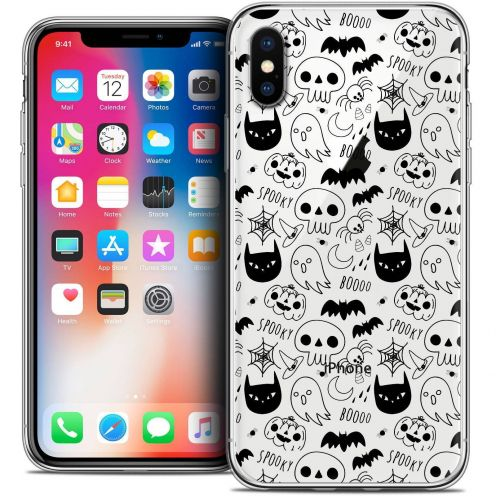 "Coque Crystal Gel Apple iPhone Xs / X (5.8"") Extra Fine Halloween - Spooky"