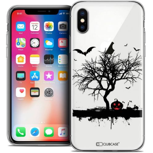 "Coque Crystal Gel Apple iPhone Xs / X (5.8"") Extra Fine Halloween - Devil's Tree"