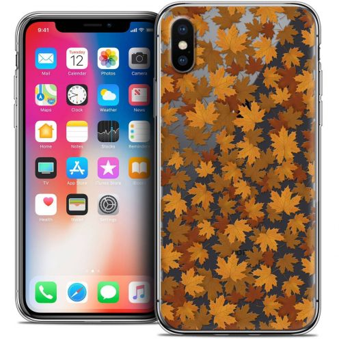 """Coque Crystal Gel Apple iPhone Xs / X (5.8"""") Extra Fine Autumn 16 - Feuilles"""