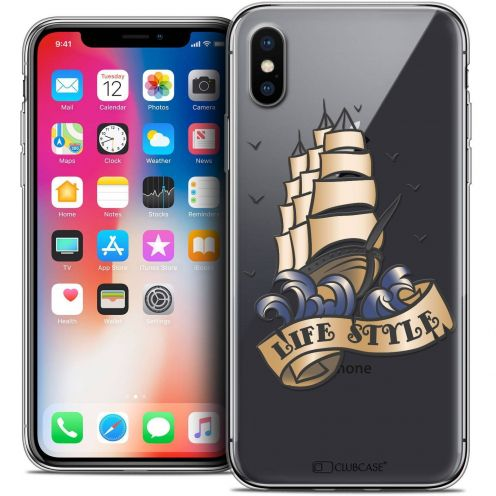 """Coque Crystal Gel Apple iPhone Xs / X (5.8"""") Extra Fine Tatoo Lover - Life Style"""