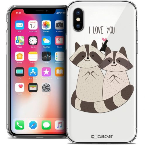 "Coque Crystal Gel Apple iPhone Xs / X (5.8"") Extra Fine Sweetie - Racoon Love"