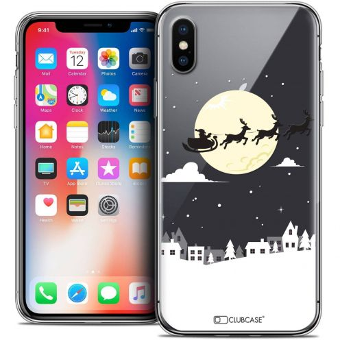 """Coque Crystal Gel Apple iPhone Xs / X (5.8"""") Extra Fine Noël 2017 - Flying Stanta"""