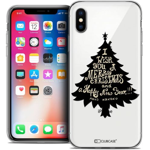"Coque Crystal Gel Apple iPhone Xs / X (5.8"") Extra Fine Noël 2017 - XOXO Tree"