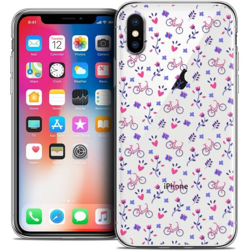 "Coque Crystal Gel Apple iPhone Xs / X (5.8"") Extra Fine Love - Bicycle"