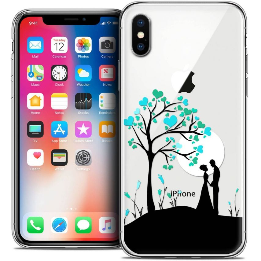"""Coque Crystal Gel Apple iPhone Xs / X (5.8"""") Extra Fine Love - Sous l'arbre"""