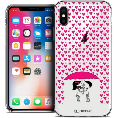 "Coque Crystal Gel Apple iPhone Xs / X (5.8"") Extra Fine Love - Pluie d'Amour"
