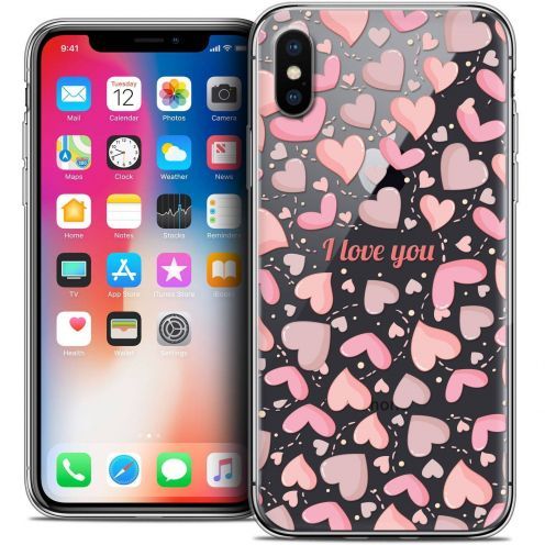 "Coque Crystal Gel Apple iPhone Xs / X (5.8"") Extra Fine Love - I Love You"