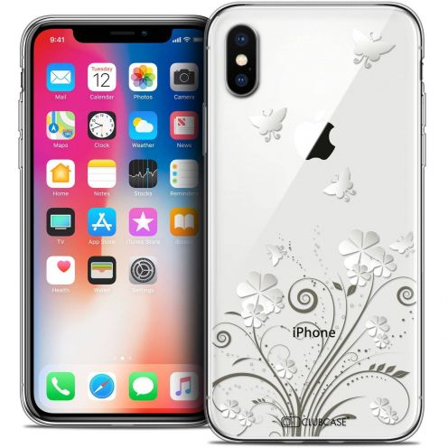 """Coque Crystal Gel Apple iPhone Xs / X (5.8"""") Extra Fine Summer - Papillons"""