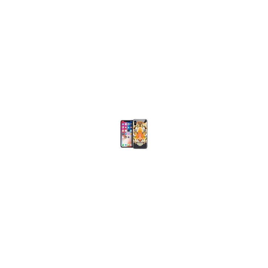 "Coque Crystal Gel Apple iPhone Xs / X (5.8"") Extra Fine Polygon Animals - Tigre"