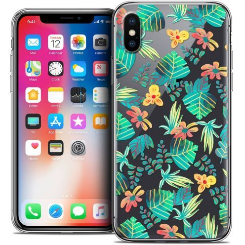 "Coque Crystal Gel Apple iPhone Xs / X (5.8"") Extra Fine Spring - Tropical"