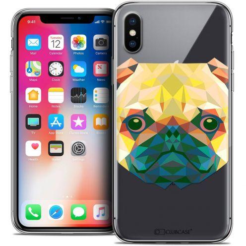 "Coque Crystal Gel Apple iPhone Xs / X (5.8"") Extra Fine Polygon Animals - Chien"