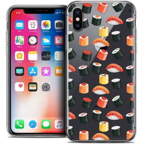 """Coque Crystal Gel Apple iPhone Xs / X (5.8"""") Extra Fine Foodie - Sushi"""