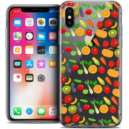 "Coque Crystal Gel Apple iPhone Xs / X (5.8"") Extra Fine Foodie - Healthy"