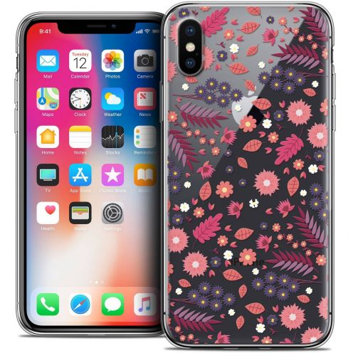 "Coque Crystal Gel Apple iPhone Xs / X (5.8"") Extra Fine Spring - Printemps"