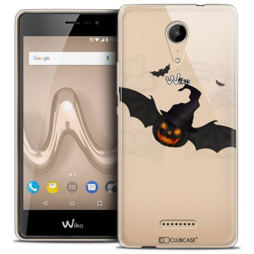 """Coque Crystal Gel Wiko Tommy 2 (5"""") Extra Fine Halloween - Chauve Citrouille"""
