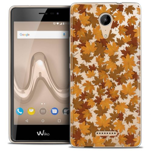 """Coque Crystal Gel Wiko Tommy 2 (5"""") Extra Fine Autumn 16 - Feuilles"""