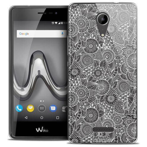 """Coque Crystal Gel Wiko Tommy 2 (5"""") Extra Fine Dentelle Florale - Blanc"""