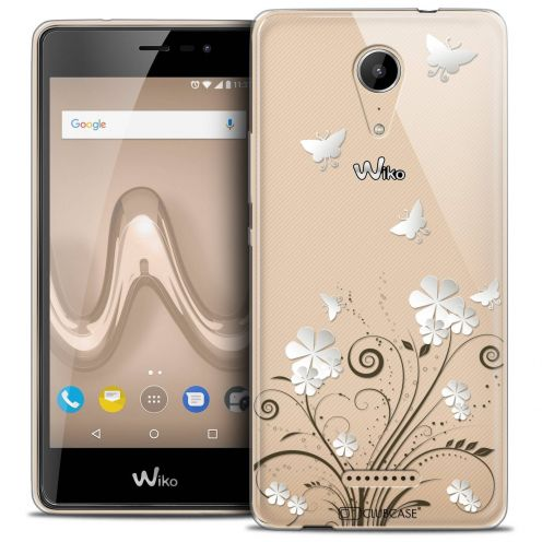 "Coque Crystal Gel Wiko Tommy 2 (5"") Extra Fine Summer - Papillons"