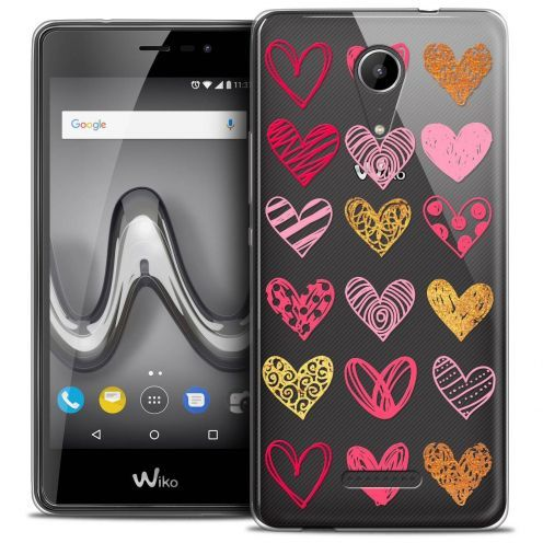 """Coque Crystal Gel Wiko Tommy 2 (5"""") Extra Fine Sweetie - Doodling Hearts"""