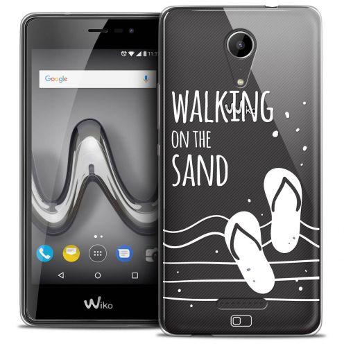 """Coque Crystal Gel Wiko Tommy 2 (5"""") Extra Fine Summer - Walking on the Sand"""