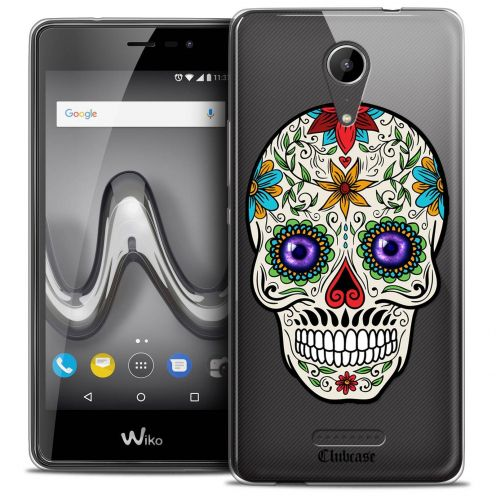 """Coque Crystal Gel Wiko Tommy 2 (5"""") Extra Fine Skull - Maria's Flower"""