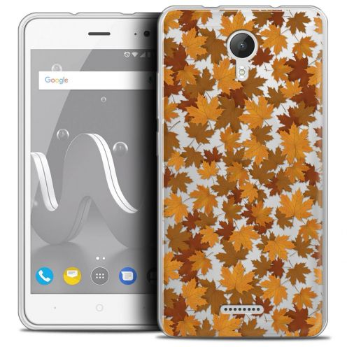 "Coque Crystal Gel Wiko Jerry 2 (5"") Extra Fine Autumn 16 - Feuilles"