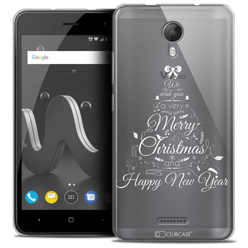 "Coque Crystal Gel Wiko Jerry 2 (5"") Extra Fine Noël 2017 - Calligraphie"