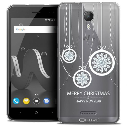 "Coque Crystal Gel Wiko Jerry 2 (5"") Extra Fine Noël 2017 - Christmas Balls"