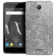 """Coque Crystal Gel Wiko Jerry 2 (5"""") Extra Fine Dentelle Florale - Blanc"""