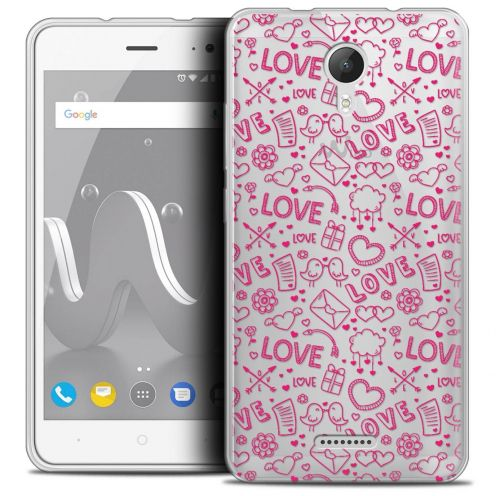 "Coque Crystal Gel Wiko Jerry 2 (5"") Extra Fine Love - Doodle"