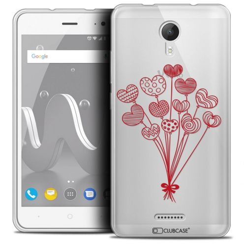 "Coque Crystal Gel Wiko Jerry 2 (5"") Extra Fine Love - Ballons d'amour"