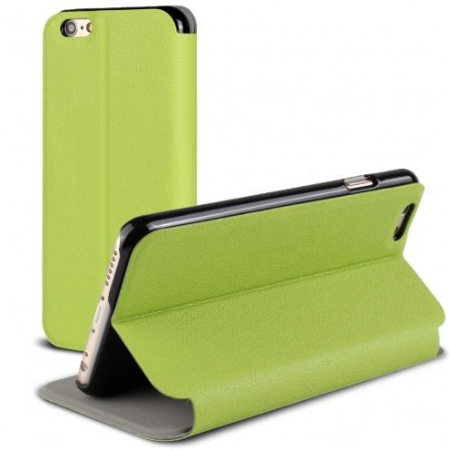 Vue Principale de Etui iPhone 6 Plus Slim Folio Smart Magnet Vert