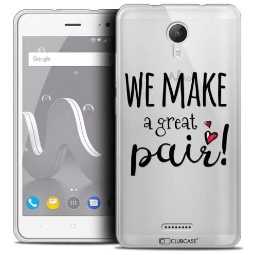 "Coque Crystal Gel Wiko Jerry 2 (5"") Extra Fine Love - We Make Great Pair"