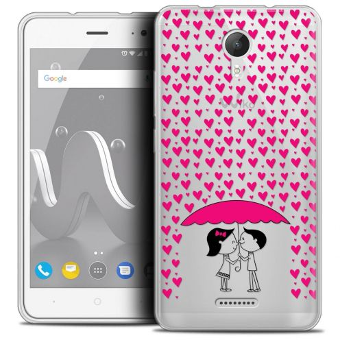 "Coque Crystal Gel Wiko Jerry 2 (5"") Extra Fine Love - Pluie d'Amour"