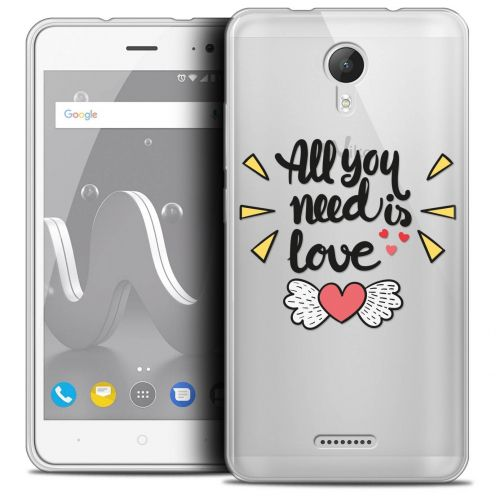 "Coque Crystal Gel Wiko Jerry 2 (5"") Extra Fine Love - All U Need Is"